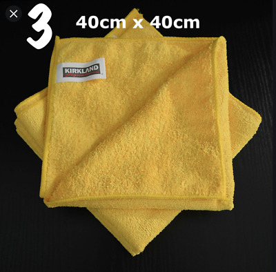 3 x LARGE MICROFIBRE CLEANING AUTO CAR DETAILING SOFT CLOTHS WASH TOWEL DUSTER