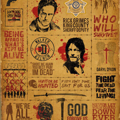 The Walking Dead Infographic Poster Print (24 x 36)