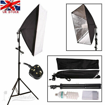 Photog Studio Video Softbox Soft Box Light Lamp Stand Continuous Lighting Set