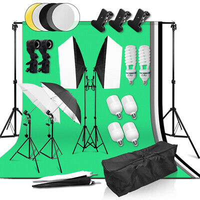 Photography Softbox Studio Continuous Video Lighting Soft Umbrella Light Kit