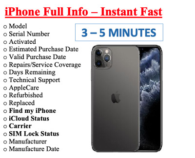 PRO FAST iPhone info Check IMEI /Simlock/Carrier/Find My Iphone/Blacklist Status