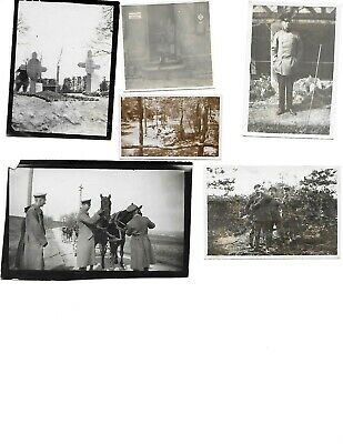 6x diff WW1 GERMAN Real Photos SOLDIERS IN UNIFORM GROUP POSE lot HISTORY #5