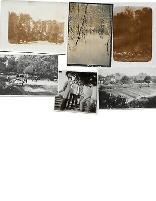 6x diff WW1 GERMAN Real Photos SOLDIERS IN UNIFORM GROUP POSE lot HISTORY #8