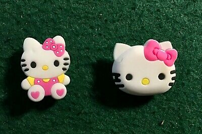 HELLO KITTY - 2PC SET  Unbranded for Crocs shoes/Jibbitz Bracelet FREE SHIPPING!