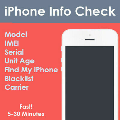FAST Check IPHONE INFO  -IMEI/MODEL/CARRIER/FIND MY IPHONE/BLACKLIST STATUS ETC.