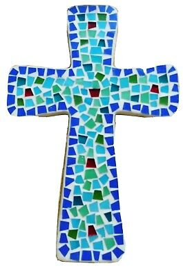 New Roma Downey For Home Interiors Mosaic Cross Christian Religious Decor Nwot 13 98 Picclick Uk