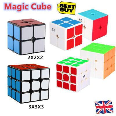 Hot 2X2X2 Magic Cube Rubic Puzzle Super Smooth Fast Speed Cube Kids Toy