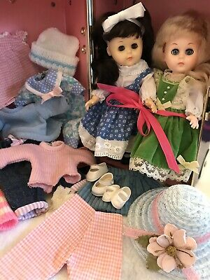 """GINNY DOLL lot: Vogue 8"""" Ginny Ginger Madame Alexander clothes shoes hats, case"""