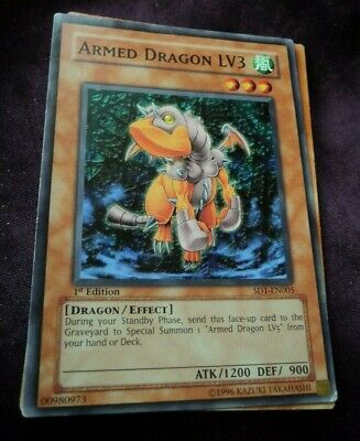 Yu-Gi-Oh X3 Armed Dragon LV3 1st Ed Common LED2-en025 Near Mint