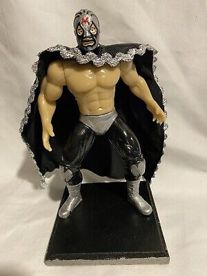 BLUE PANTHER Wrestler 7 in Action Figure Mexican Toys HANDMADE  PAINTED MEXICAN