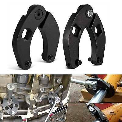 Set of 2 Large /& Small Adjustable Gland Nut Spanner Wrench Set for Hydraulic Cylinders 1266 /& 7463