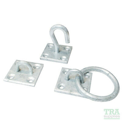 Securit Heavy Duty Galvanised 50mm Staple Ring Hook On Plate Thick Galv