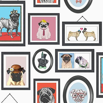 HOLDEN DECOR Born To Be Wild Animals cadres autoportraits papier peint cochon noir pour chien chat