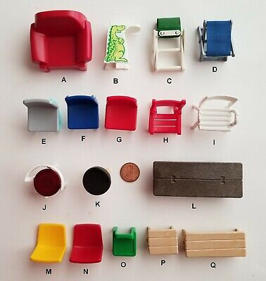 PLAYMOBIL Furniture Chairs//Pick /& Choose $0.99-$1.95//Combined Shipping Availabl