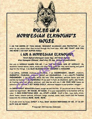 Rules In A Norwegian Elkhound's House