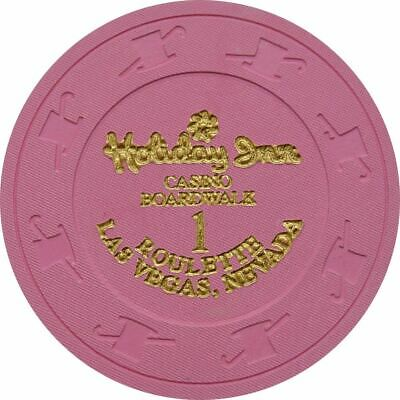Holiday Inn Casino Boardwalk Pink Roulette 1 Chip Las Vegas NV 1995