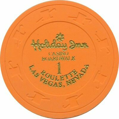 Holiday Inn Casino Boardwalk Orange Roulette 1 Chip Las Vegas NV 1995