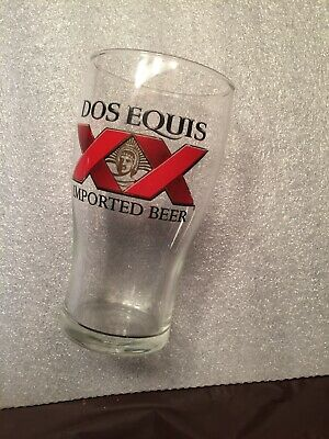Dos Equis 16oz Signature Beer Glass