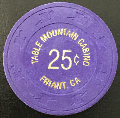 Table Mountain Casino - $0.25 Chip - Friant CA - Paulson H&C - Obsolete