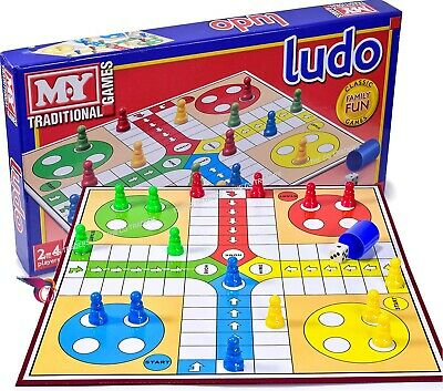 Ludo Traditional Game Classic Family Fun Game Educational Board Game Large Size