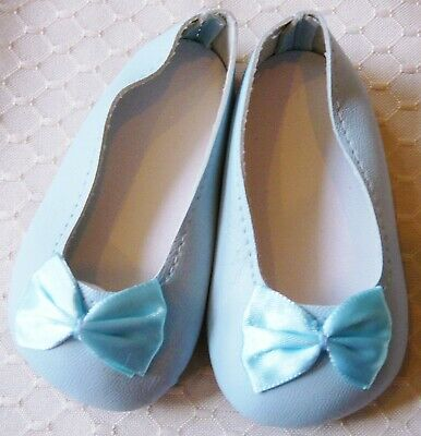 "Blue Shoes w// Diamond Top Stitching and Buckle fit 23/"" Straight Leg Doll 98mm"