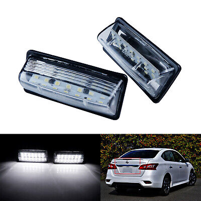 For Nissan Maxima Rogue Quest Sentra White 21-SMD LED License Plate Lights Lamps