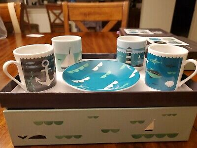set of 4 cups and saucers Magpie Beasties Espresso Set