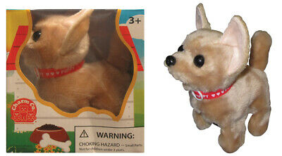 """Dog Walks and barks Baby Chihuahua 6/""""/"""" Puppy Battery Operated"""