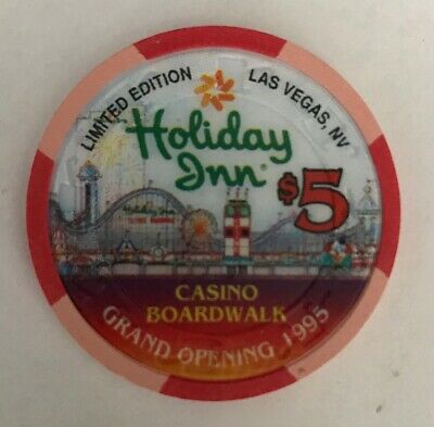 Holiday Inn Boardwalk Grand Opening $5 Casino Chip 1995 Limited Edition Vegas
