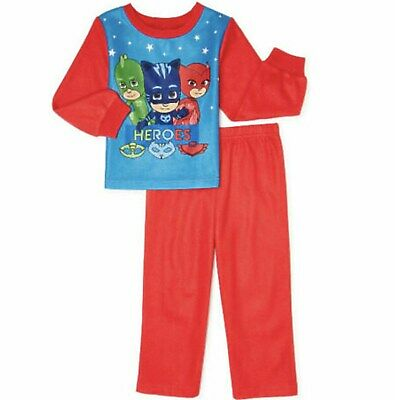 PJ Masks Figures 2pc Official Sleepwear Pajamas Outfit Toddler Boys 2T 3T 5T