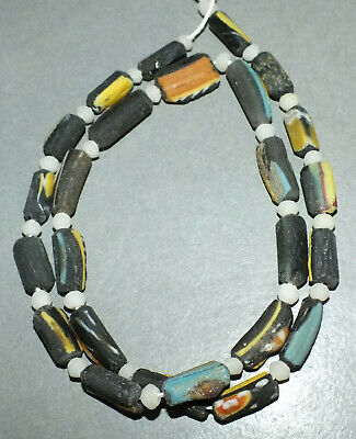 Rare Roman Ancient Afghan lapis lazuli Spiral Antique Strand Bead Necklace