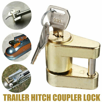Trailer Hitch Coupler Lock For Towing Hauling Power Security Tow Protection 2Key