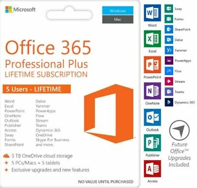Microsoftoffice365 ProPlus5Devices Mac/Win *INSTANT DELIVERY *🔥🔥🔥