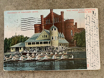 """Unused Vintage NOS Bucky Badger Post Card Bucky Says: /""""On Wisconsin!/"""" Mint"""