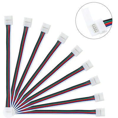10Pcs 10//14//17mm Silicon LED Clips For Fixed RGB Strip Light Fixing Connect D PT