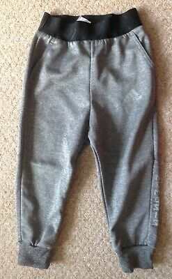 Boy's Girl's Unisex Adidas Grey Tracksuit Trousers - Size 5-6 Years (Mint)