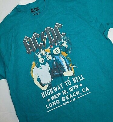 AC/DC XL Goodie Two Sleeves Graphic Tee Shirt Highway To Hell 1979 Long Beach CA