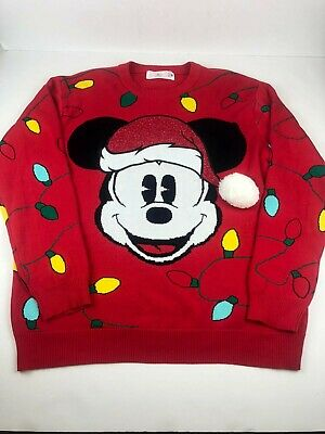 NEW Disney Store Mickey Mouse Holiday Christmas Men Sweater many sizes