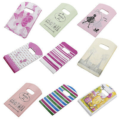 50X Wholesale Lot Pretty Mixed Pattern Plastic Gift Shopping Lovely 15X9CM A2A7
