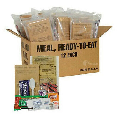 Military Food Case of 12 MRE from Meals Ready to Eat
