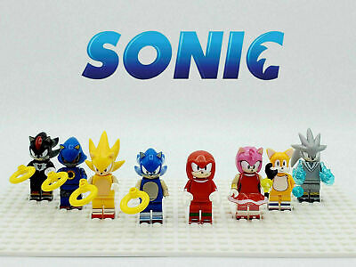 6 Sonic the Hedgehog LEGO Minifigure Lot