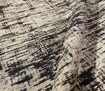 Below Wholesale Retails 396 yd 1.75 yds GWF-3112-816 Groundworks Kelly Wearstler Ebony Oatmeal CURRENTS Embroidered Silk Fabric