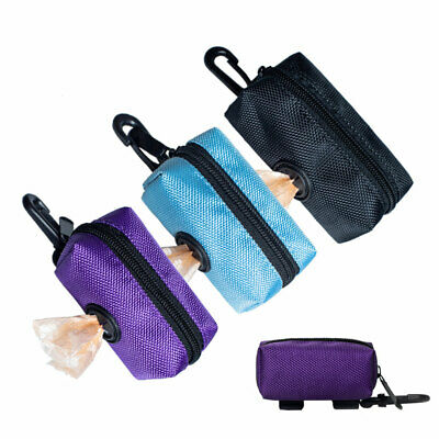 Portable Puppy Pet Poop Pick-up Bags Dispenser Dog Travel Waste Bag Holder Pouch