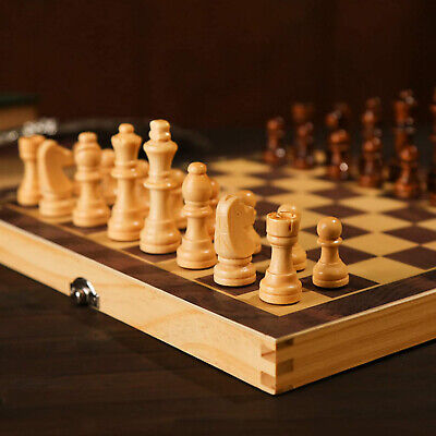 30*30 Cm Wooden Chess Vintage Standard Game Set Large Foldable Board Great Gift