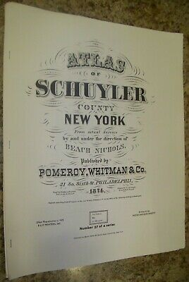1804 NY MAP SCHUYLER SARATOGA TOMPKINS WESTCHESTER County New York Old History