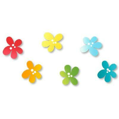 Roeda Brighten yourLife 6 magnets Celebrate Ombre Swirl Blue Turquoise Green NIP