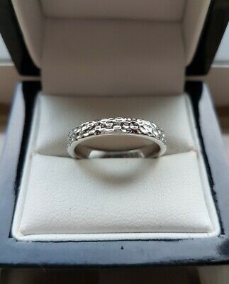 925 STERLING SILVER WOMENS MOONDUST EFFECT LARGE WIDE RING NEW
