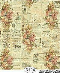 VICTORIAN CHRISTMAS DOLLHOUSE WALLPAPER 1:12 SCALE 0476