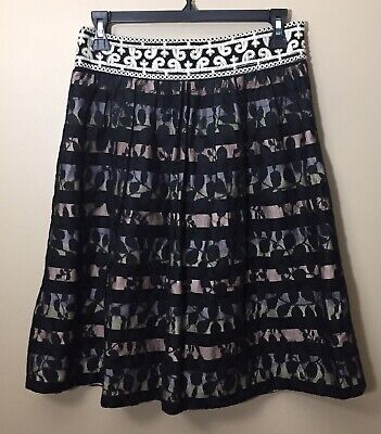 Details about  /ANTHROPOLOGIE Floreat Stella Embroidered Skirt NwT Large