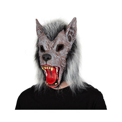 Mens Full Moon Madness Costume Ani-motion Mask Werewolf Halloween Wolf Outfit